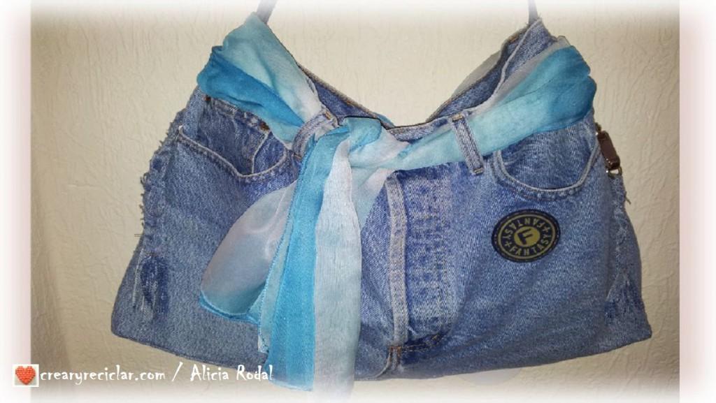 bolso vaquero pantalón jeans