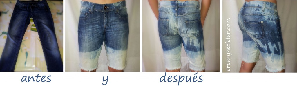 pantalón antes y después