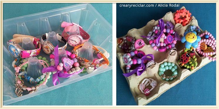 joyero reciclado para niñas