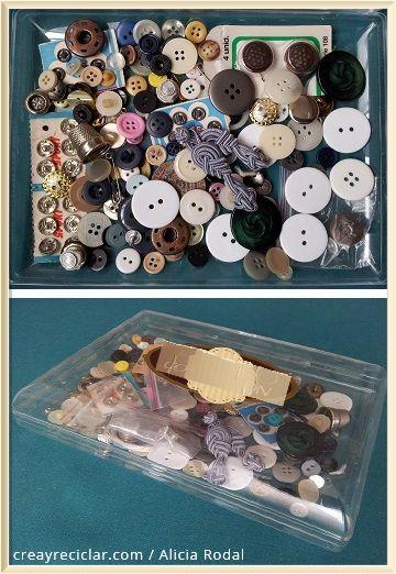 Contenedor almacenar materiales de trabajo