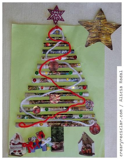 postal navidad tridimensional