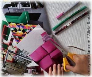 recortar hojas de papel de revistas