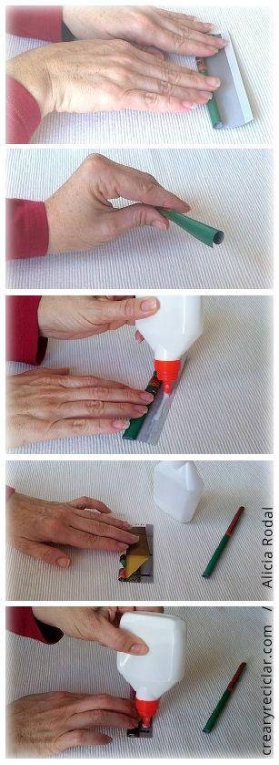 enrollar y pegar papel