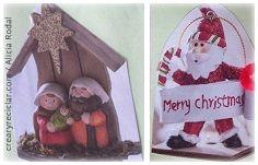 Papá Noel y portal de Belén