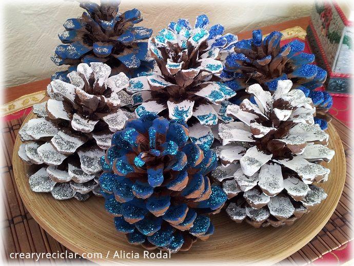 Cómo reutilizar las piñas de los pinos para la decoración de nuestro hogar en Navidad