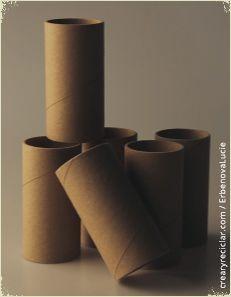 tubo de cartón de papel de baño