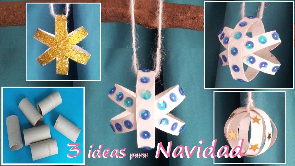 Varias ideas para decorar tu arbolito de Navidad con diferentes materiales reciclados