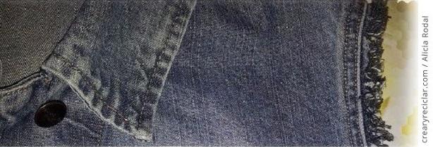 Mira qué fácil es transformar una chaqueta vaquera o blue jeans, en un chaleco sin coser.