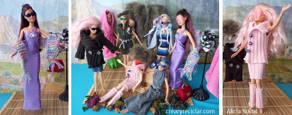 Ropa y complementos de moda para muñecas con reciclaje