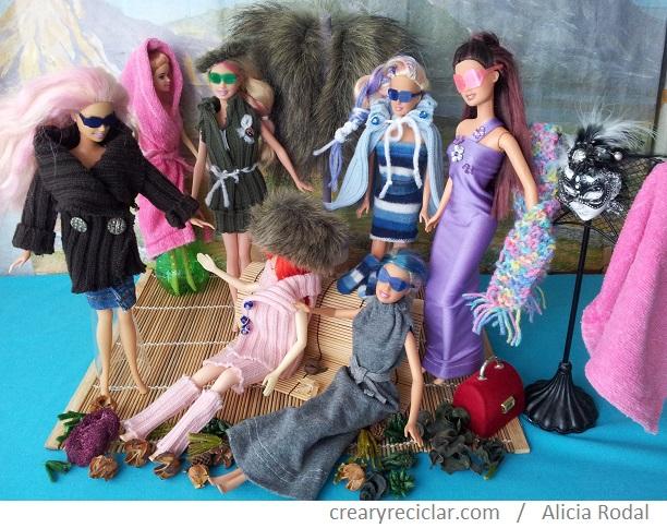 ropa de muñecas con telas recicladas