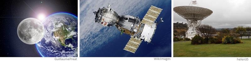 satélites naturales y artificiales