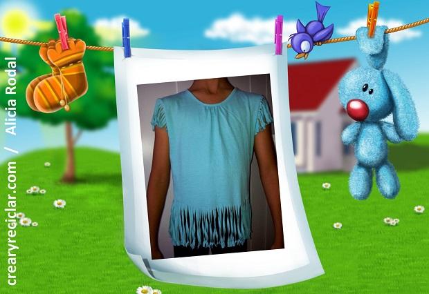 renovar camiseta con flecos