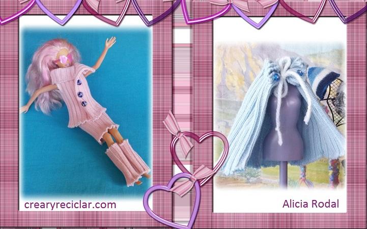 conjunto rosa y capa azul