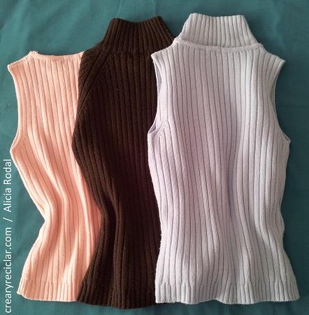 cuello de jerséis, tejido de punto