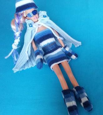 Ropa para muñecas, capa de tejido de punto