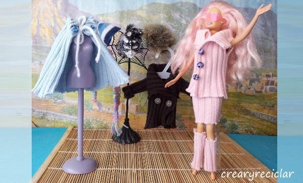 Cómo hacer ropa para muñecas con tejido de punto para invierno