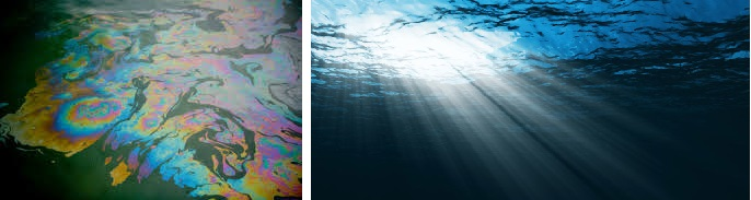 aceite en los océanos