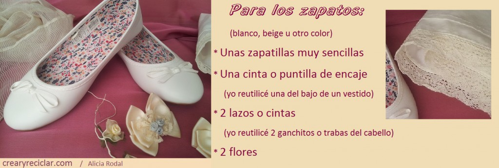 materiales para decorar zapatos