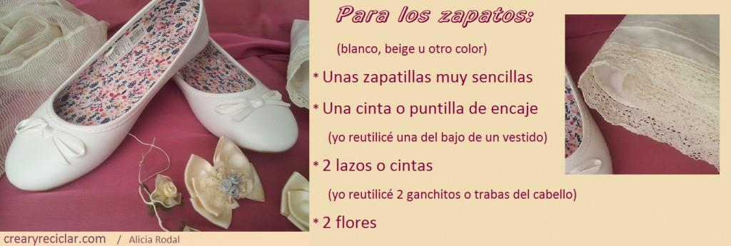 materiales para decorar zapatos