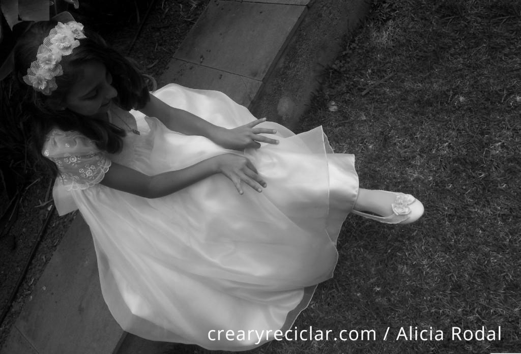 zapatos y diadema comunión