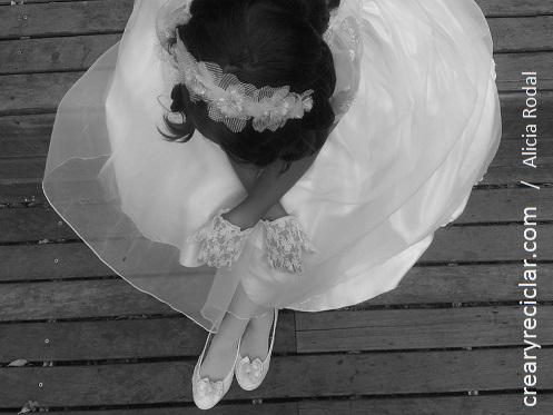 zapatos y diadema comunion