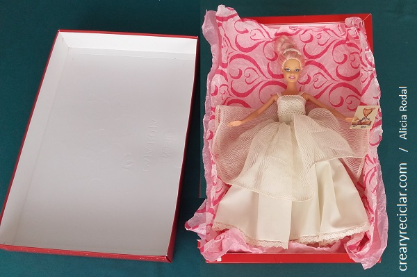 caja regalo muñeca vestido comunión
