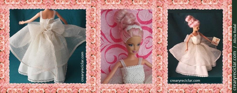 vestido de comunion para muñeca