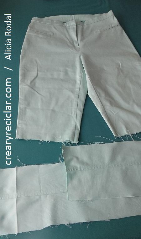 tela pantalón para bolso