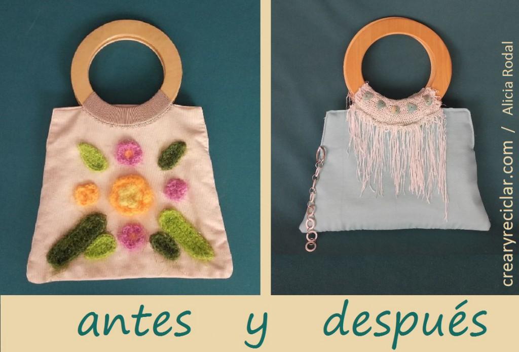 bolso de fiesta antes y después