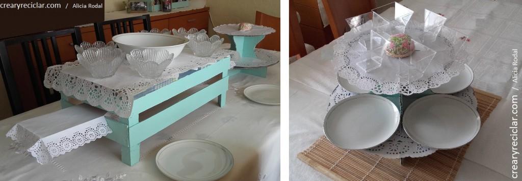 guacal y pedestal vajilla mesa comunión