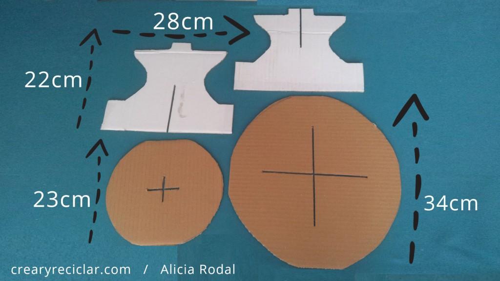 medidas base de cartón para cupcakes