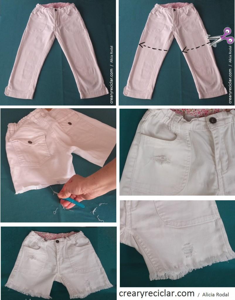 pantalon corto paso a paso