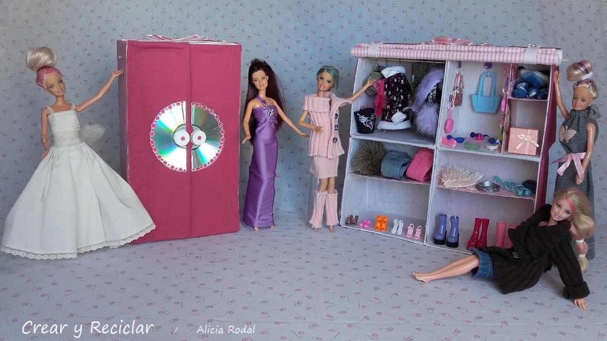 Aparador De Comedor Uruguay ~ Armario y vestidor para muñecas DIY Crear y Reciclar