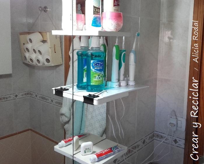 repisa mueble baño reciclaje