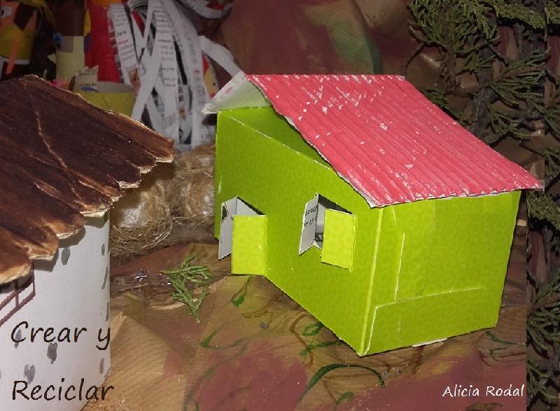 Cómo hacer una casita para el Portal de Belén o nacimiento, con una cajita de té.