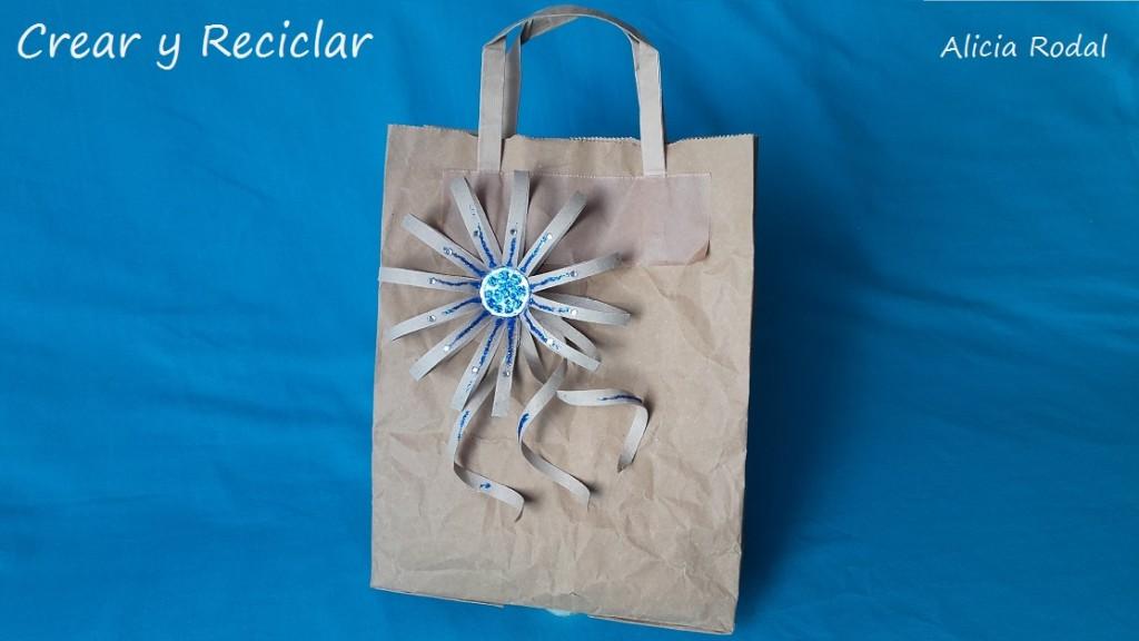 lazo para regalo en forma de flor con tubo de cartón