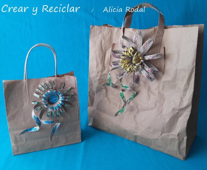 lazos para regalos en forma de flor con tubos de cartón