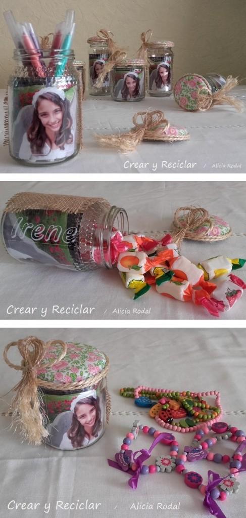 Recuerditos de cumpleaños con frascos de vidrio DIY