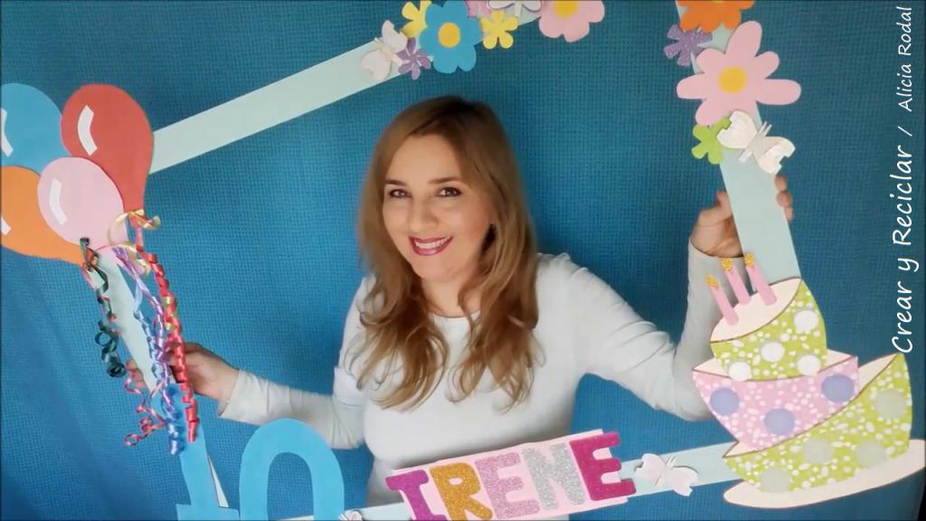 Cómo hacer un marco selfie para fiestas con reciclaje. DIY. Fácil, rápido y económico. Así los selfies con la familia y los amigos serán más divertidos