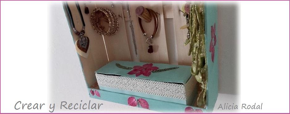 joyero organizador guacal y flores secas