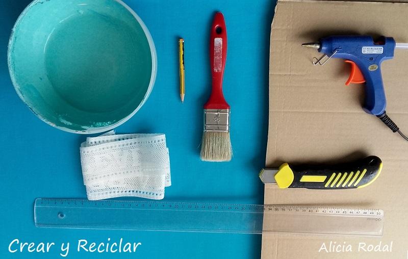materiales para el marco de cartón
