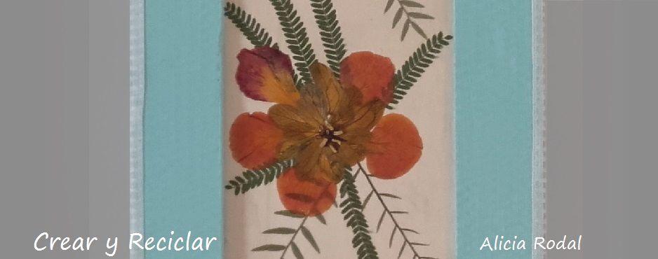 cuadro con madera y flores secas