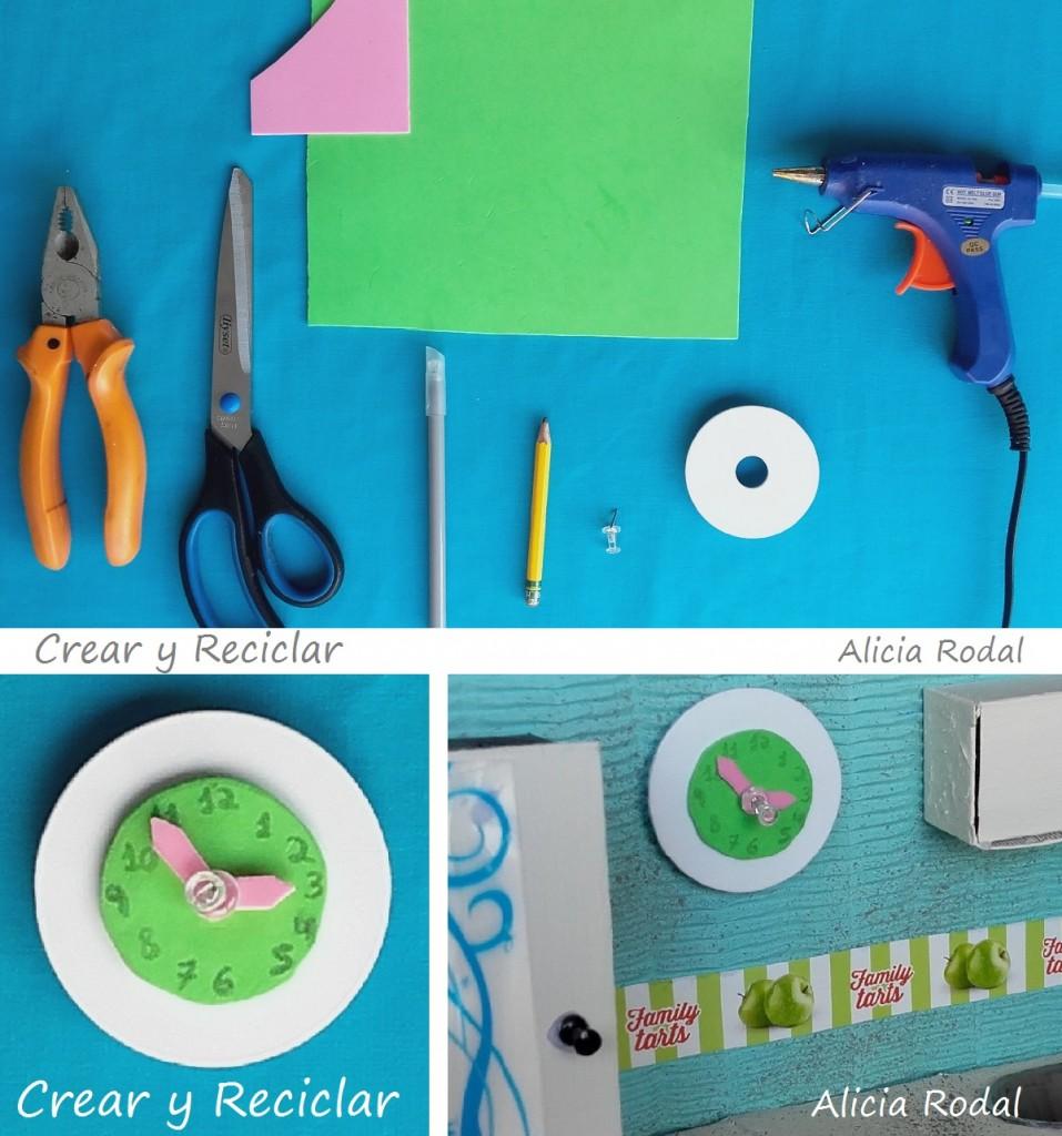 reloj de pared cocina de muñecas