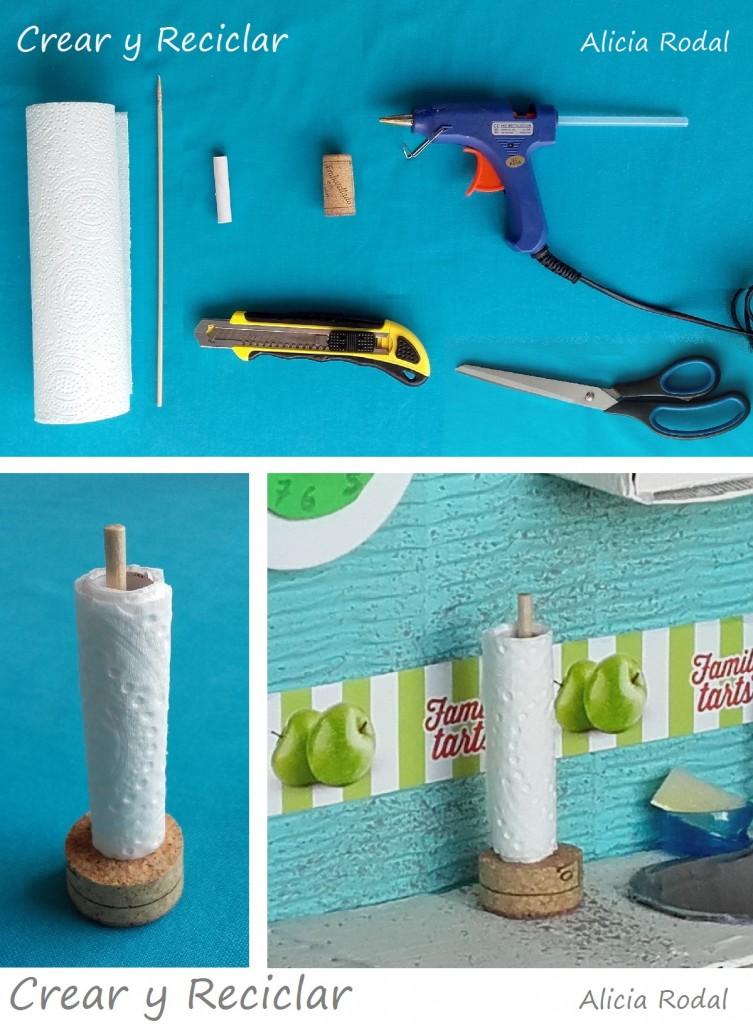 porta rollo papel de cocina muñecas