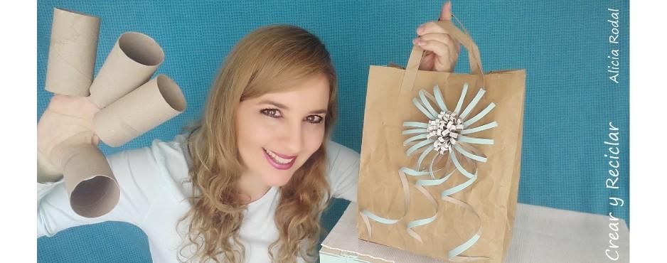 Flores de cartón para bolsa de regalo