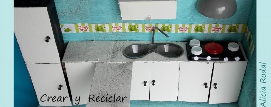 cocina para muñecas con reciclaje DIY