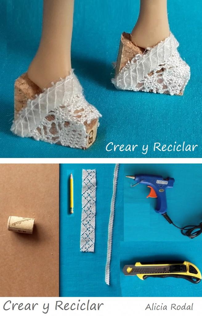 Sandalias de encaje para muñecas DIY