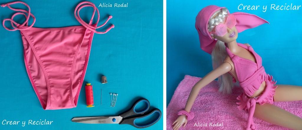 materilaes para bikini con reciclaje