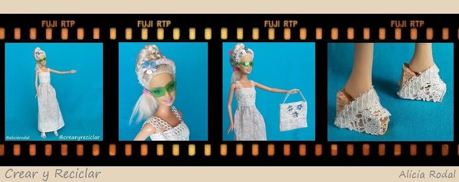 moda de verano para muñecas con reciclaje DIY