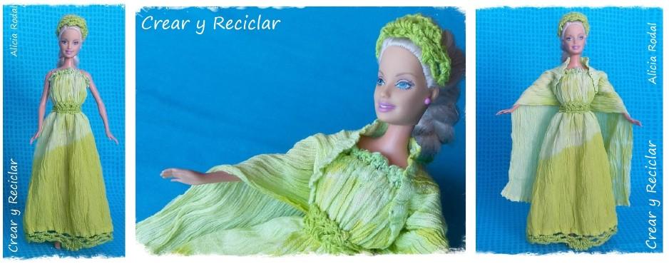 Vestido de muñeca con reciclaje DIY